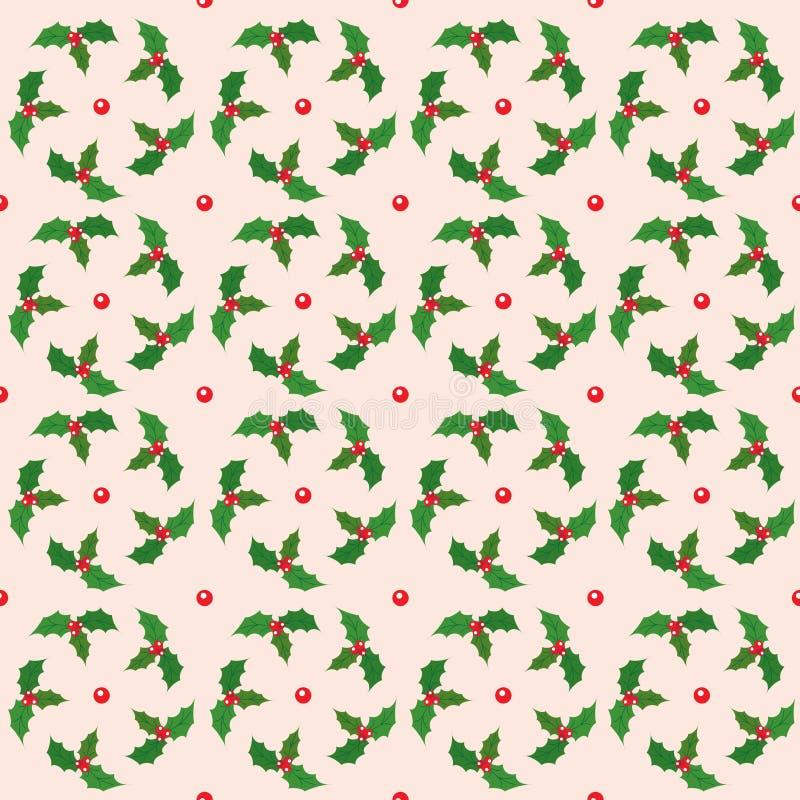Modelo inconsútil de la Navidad Ornamento brillante 02 del invierno ilustración del vector