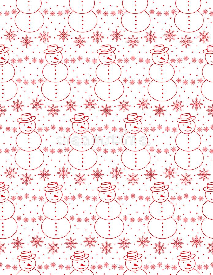 Modelo inconsútil de la Navidad, tarjeta - estilo escandinavo del suéter libre illustration