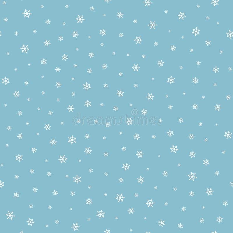Modelo inconsútil de la nieve que cae ilustración del vector