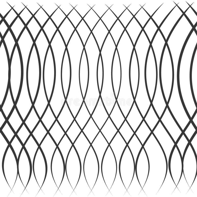 Modelo inconsútil de la ondulación Relanzar textura Fondo gráfico ondulado Ondas lineares simples stock de ilustración