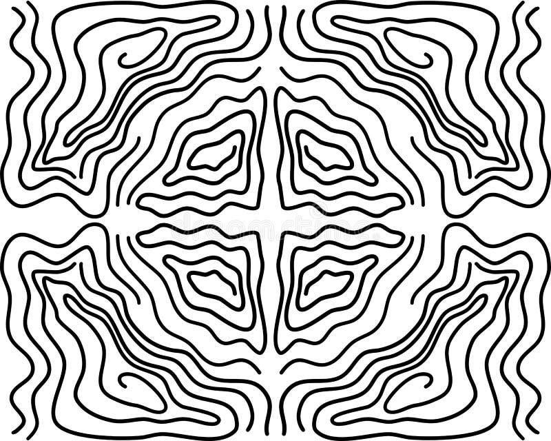 Modelo inconsútil de la ondulación, repitiendo textura del vector, fondo gráfico ondulado ilustración del vector