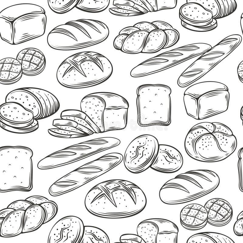 Modelo inconsútil de la panadería stock de ilustración