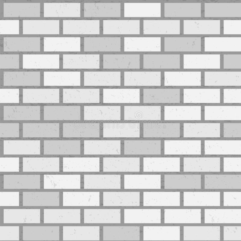 Modelo inconsútil de la pared de ladrillo gris con textura stock de ilustración