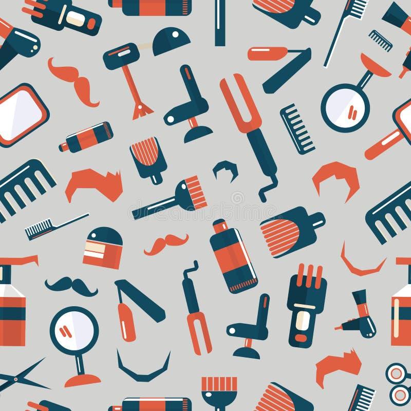 Modelo inconsútil de la peluquería de caballeros libre illustration
