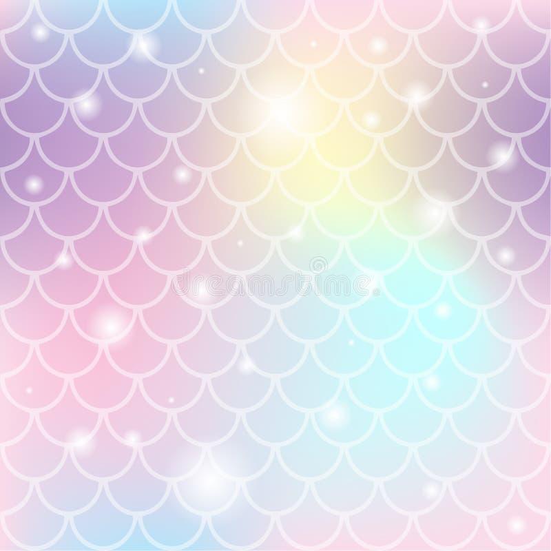 Modelo inconsútil de la pendiente del color del unicornio stock de ilustración