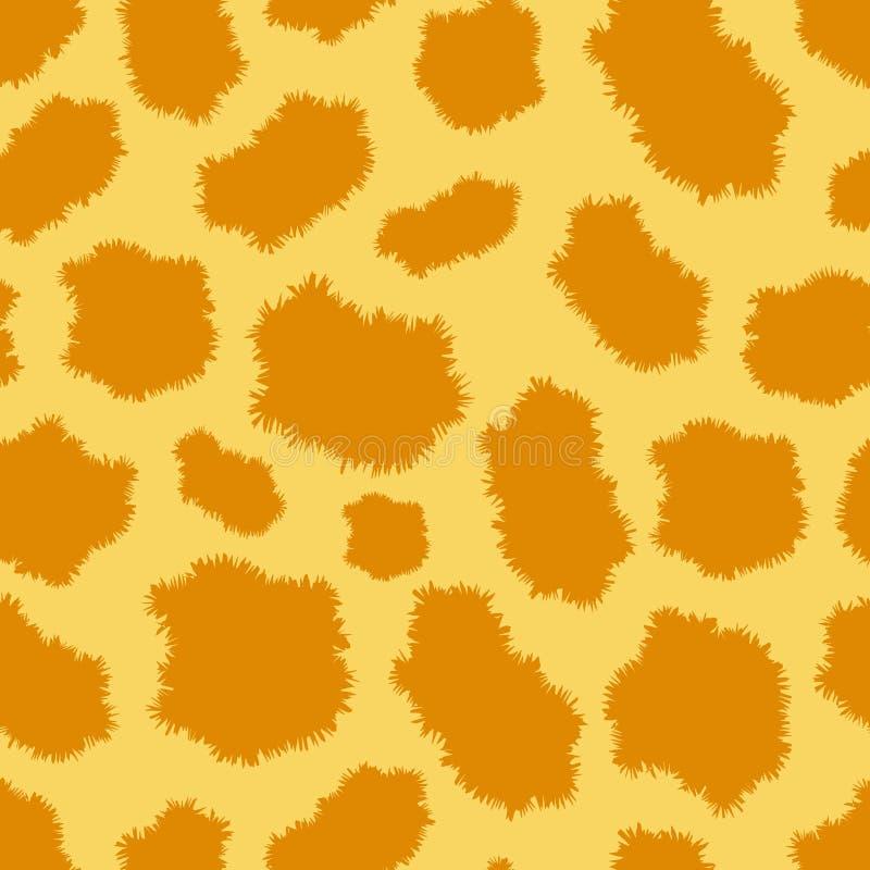 Modelo inconsútil de la piel del leopardo ilustración del vector