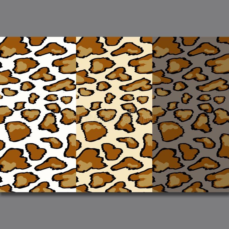 Modelo incons?til de la piel del leopardo en fondo gris Estampado de animales ilustración del vector