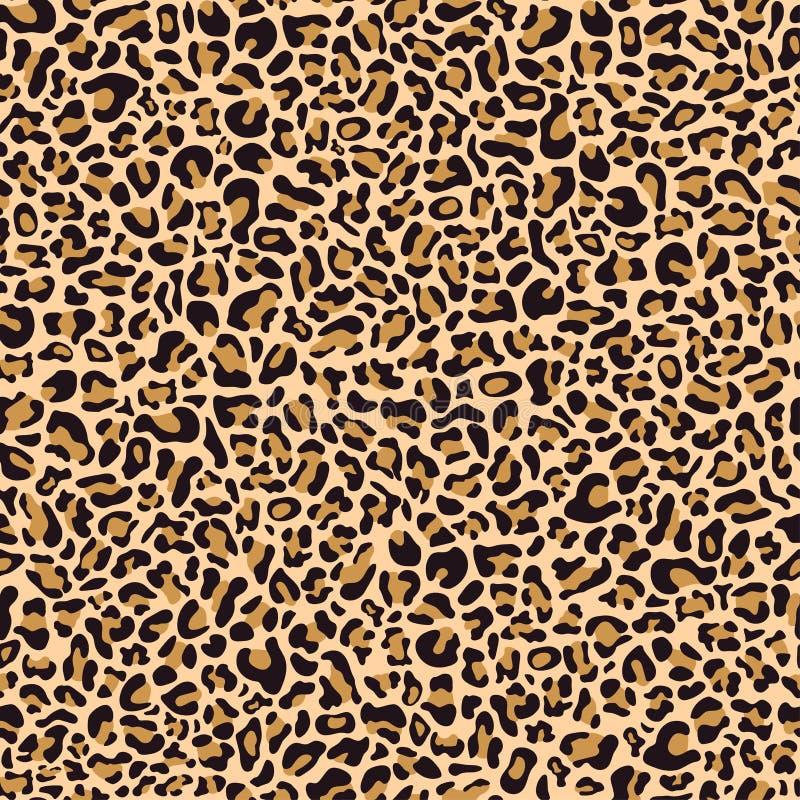 Modelo inconsútil de la piel del leopardo stock de ilustración