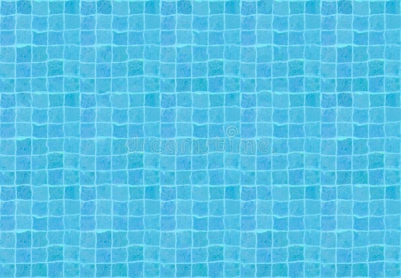 Modelo inconsútil de la piscina de agua de la visión superior en color azul fotos de archivo