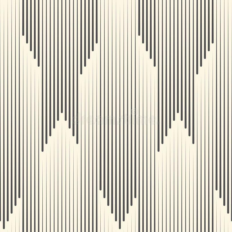 Modelo inconsútil de la raya vertical Línea blanco y negro vagos del vector libre illustration
