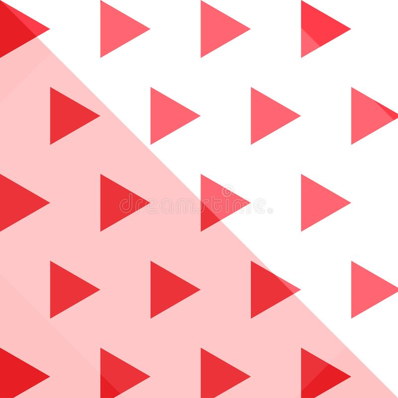 Modelo inconsútil de la repetición del triángulo geométrico foto de archivo