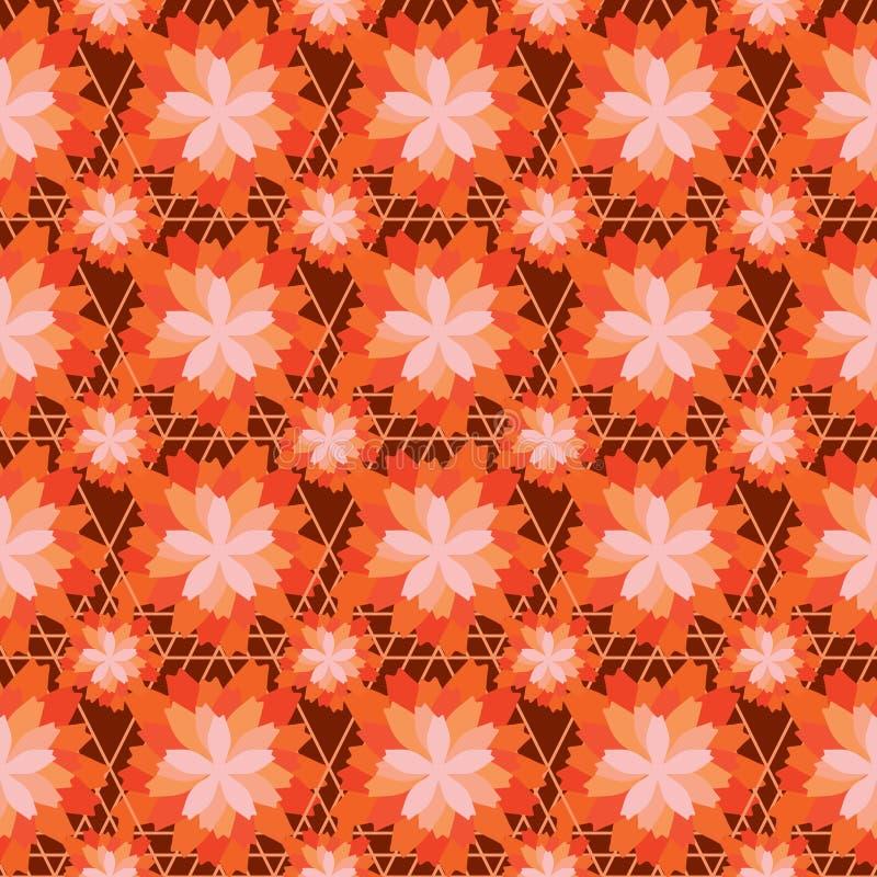 Modelo inconsútil de la simetría anaranjada del color de la flor libre illustration