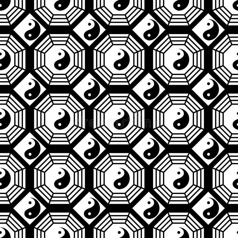 Modelo inconsútil de la simetría blanco y negro de Taiji Bagua libre illustration