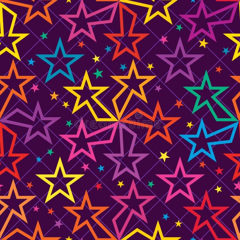 Modelo inconsútil de la simetría colorida del movimiento del rayo de la estrella libre illustration