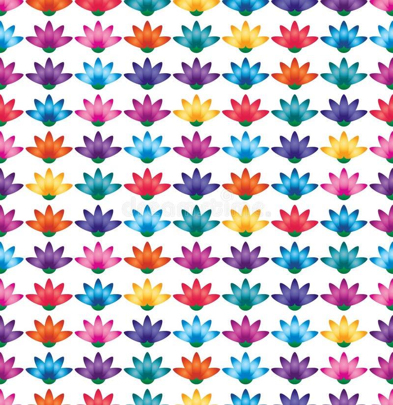 Modelo inconsútil de la simetría colorida del pétalo de la flor stock de ilustración