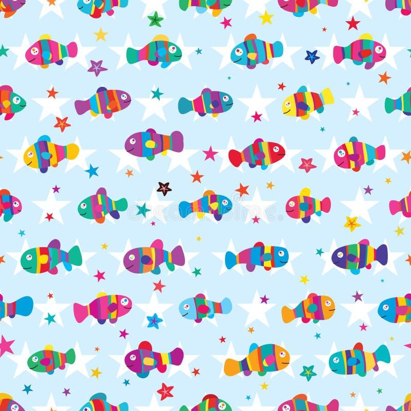 Modelo inconsútil de la simetría colorida de la estrella de Clownfish libre illustration