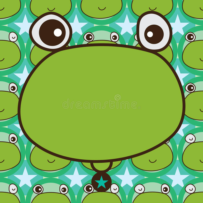 Modelo inconsútil de la simetría de la plantilla de la rana libre illustration