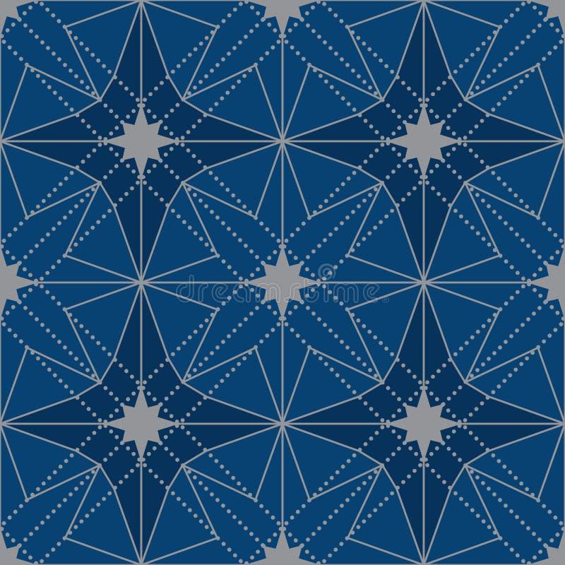 Modelo inconsútil de la simetría del diseño de la estrella de Japón stock de ilustración