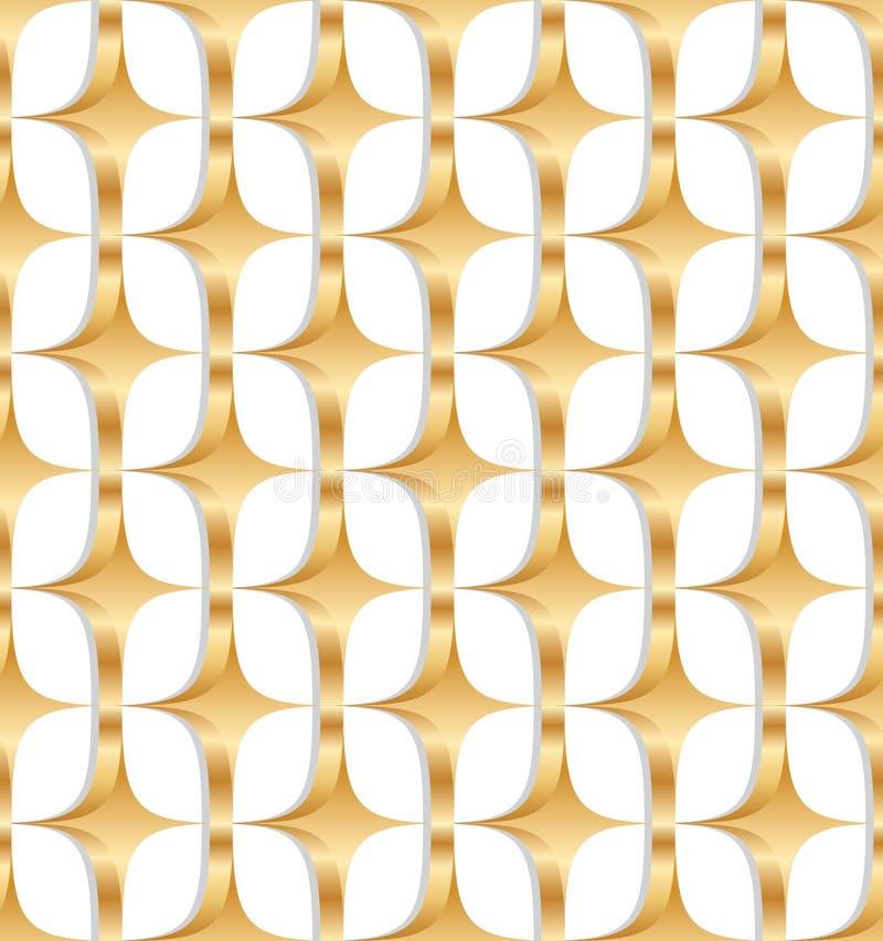 modelo inconsútil de la simetría del oro del diamante 3d libre illustration