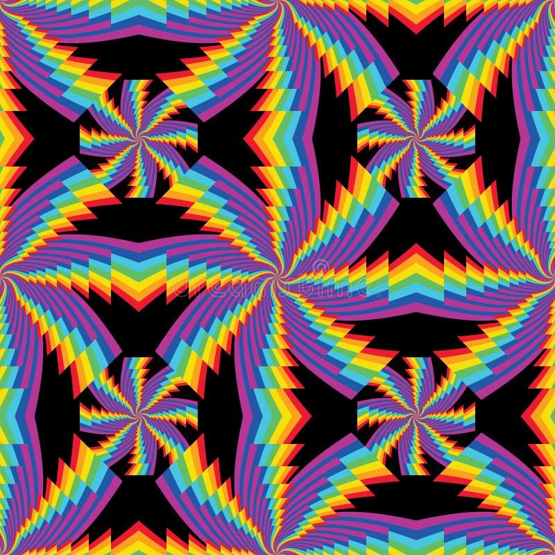 Modelo inconsútil de la simetría del remolino de la capa del arco iris libre illustration