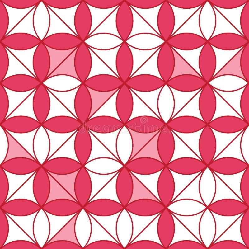 Modelo inconsútil de la simetría de la flor del círculo de la forma del diamante stock de ilustración