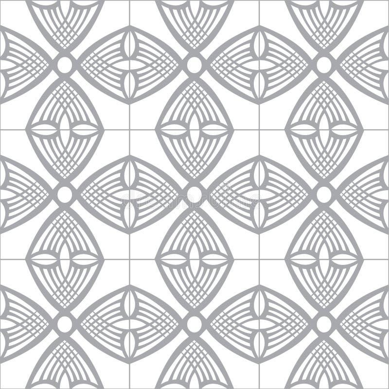 Modelo inconsútil de la teja ilustración del vector