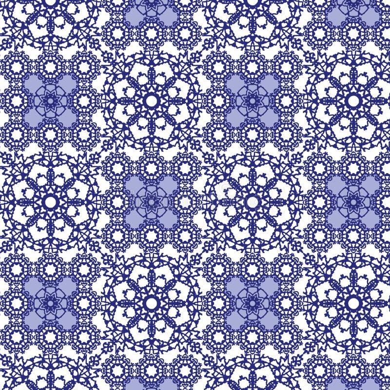 Modelo inconsútil de la teja azul ilustración del vector