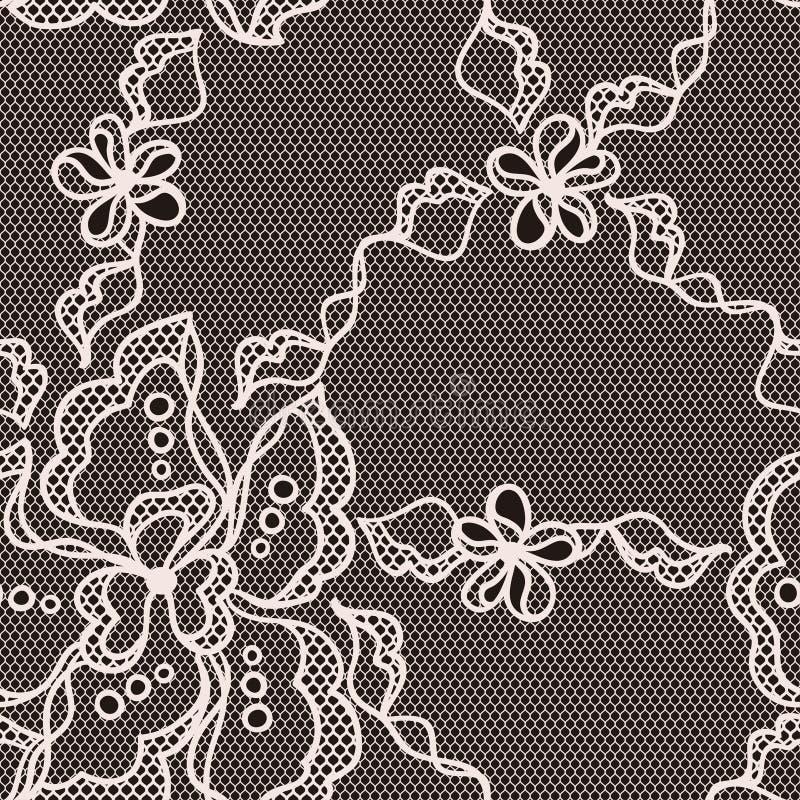 Modelo inconsútil de la tela del cordón con las flores abstractas libre illustration