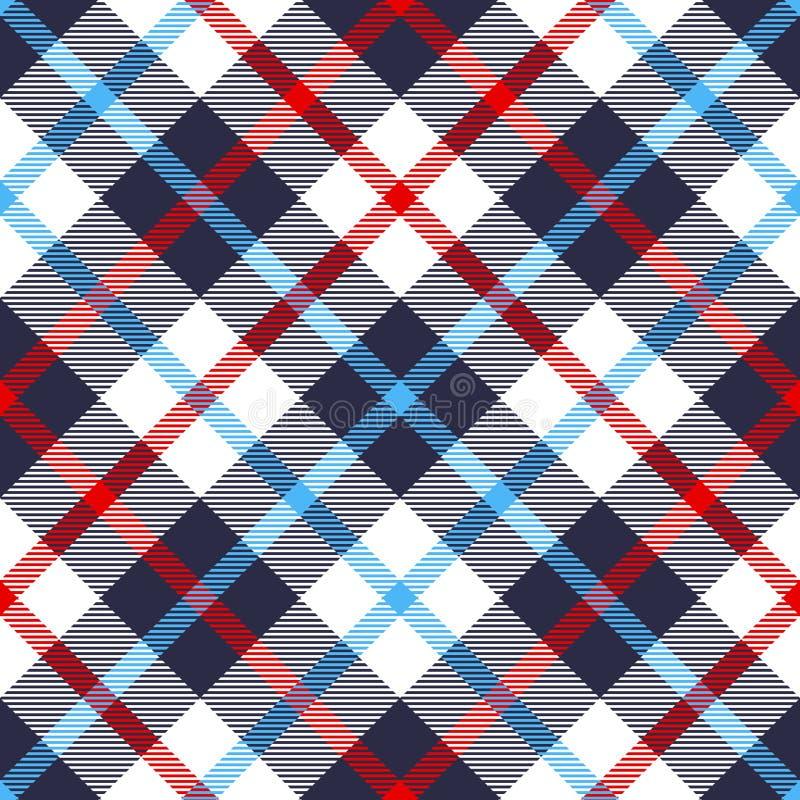 Modelo inconsútil de la tela escocesa stock de ilustración