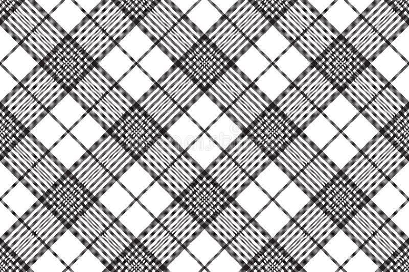 Modelo inconsútil de la tela escocesa blanco y negro del control de los pixeles libre illustration