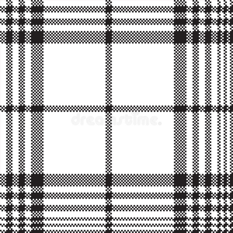 Modelo inconsútil de la tela escocesa blanco y negro del control de los pixeles ilustración del vector