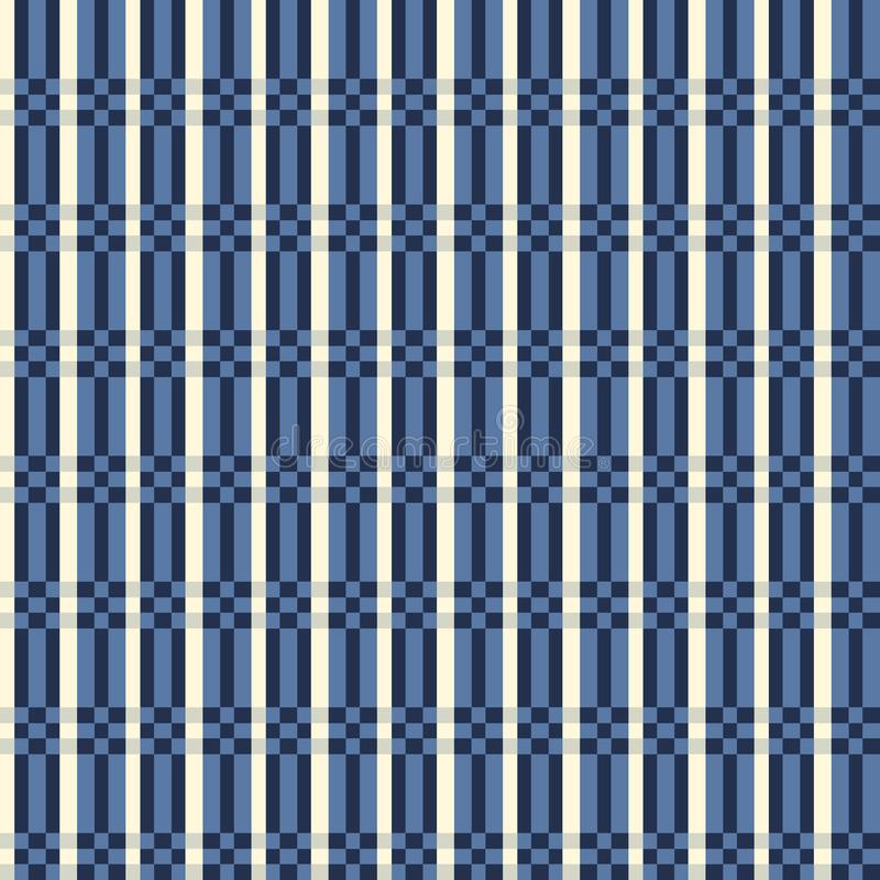 Modelo inconsútil de la tela escocesa de tartán Rayas a cuadros de la textura de la tela ilustración del vector