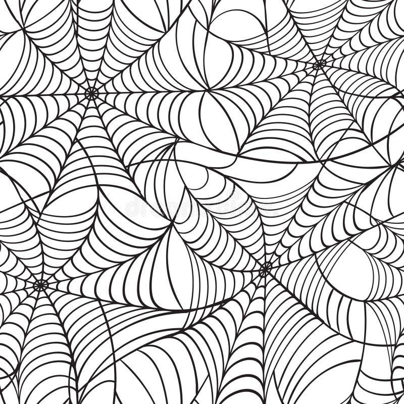 Modelo inconsútil de la telaraña ilustración del vector
