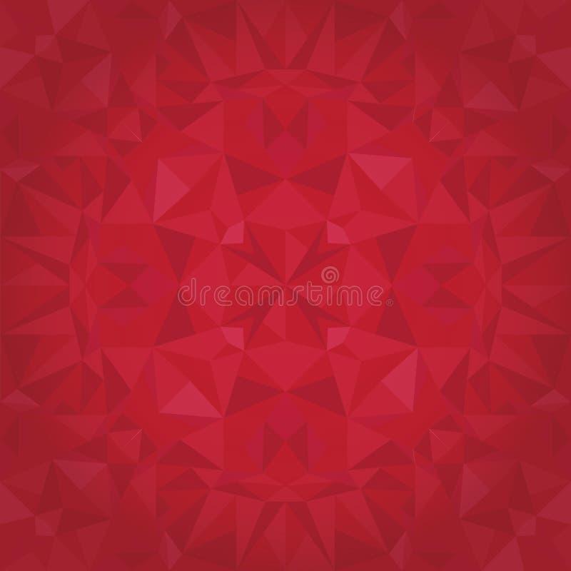 Modelo inconsútil de la textura de Ruby Red Triangles Crystal Foil del vector Diseño superficial festivo y que brilla intensament ilustración del vector