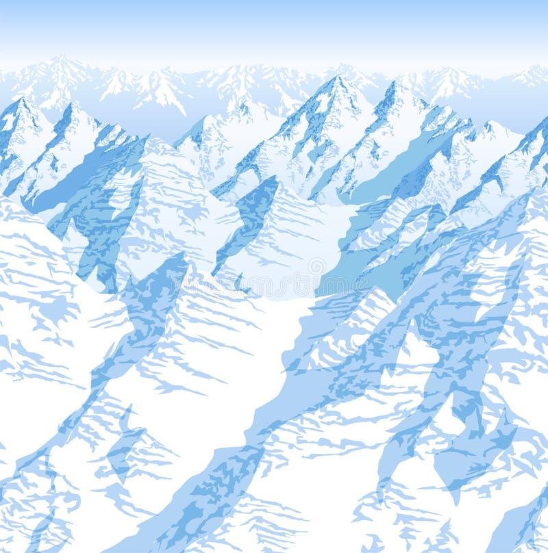 Modelo inconsútil de la textura del fondo de las montañas de las montañas de Himalaya Nepal del vector stock de ilustración