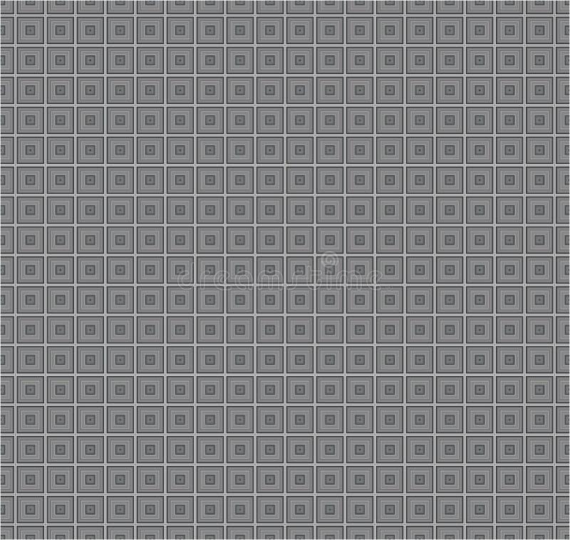 Modelo inconsútil de la textura del fondo del vector de Grey Monochrome Cube Square Fabric imagen de archivo