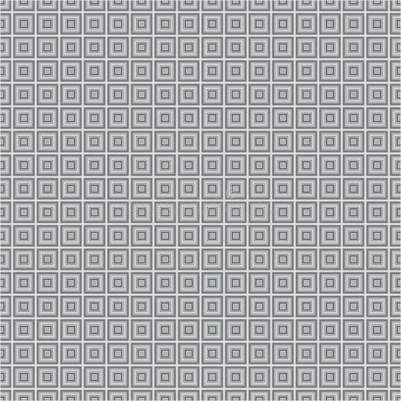 Modelo inconsútil de la textura del fondo del vector de Grey Monochrome Cube Squares Fabric fotografía de archivo