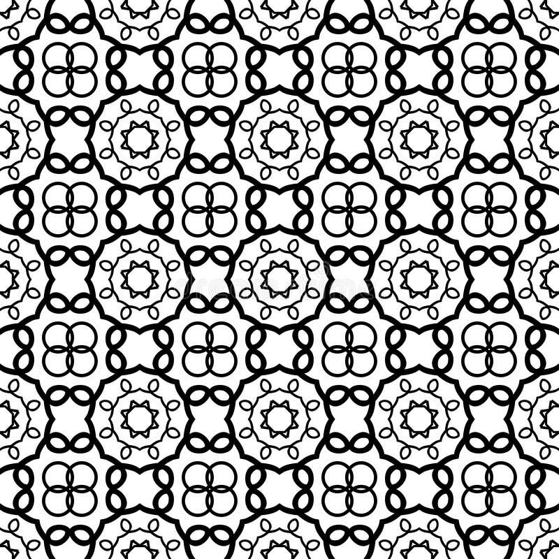 Modelo inconsútil de la vendimia Modelo inconsútil abstracto geométrico Fondo clásico Ilustración del vector ilustración del vector