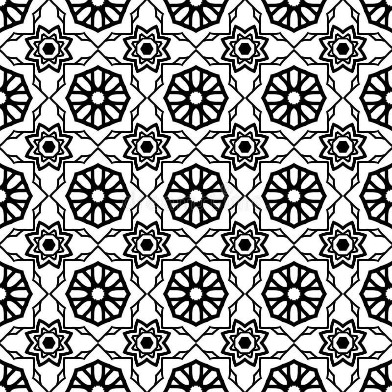 Modelo inconsútil de la vendimia Modelo inconsútil abstracto geométrico Fondo clásico Ilustración del vector stock de ilustración