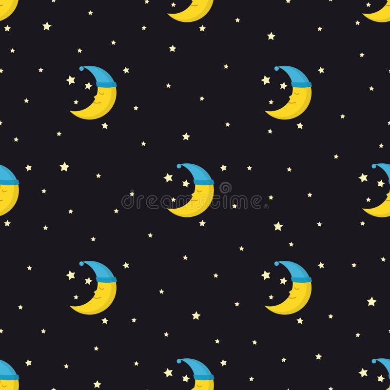 Download Modelo Inconsútil De Las Buenas Noches Con La Luna Y Las Estrellas  Lindas El Dormir