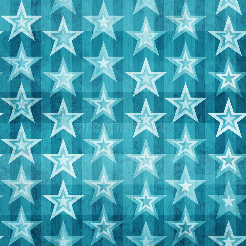 Modelo inconsútil de las estrellas azules del Grunge libre illustration