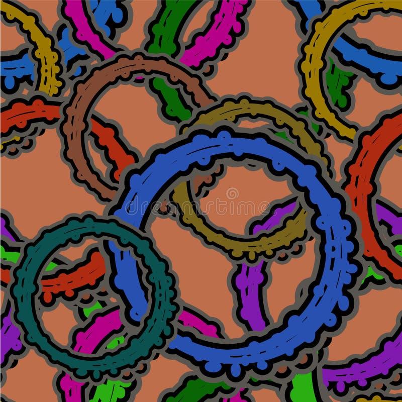 Modelo inconsútil de las figuras bajo la forma de gea multicolor imagen de archivo