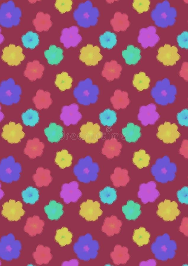 Modelo inconsútil de las flores lindas de Colorfull foto de archivo