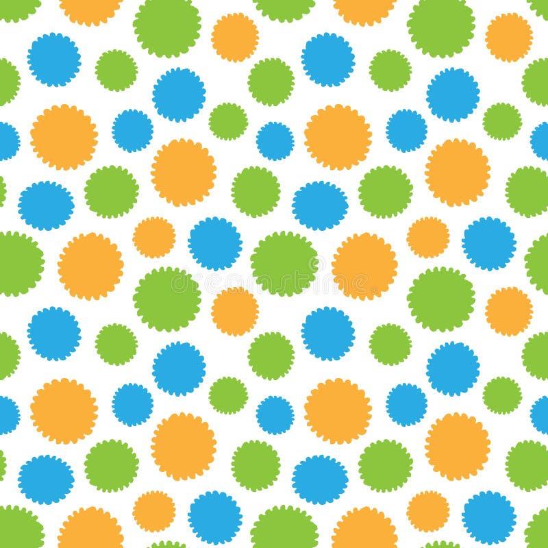 Modelo inconsútil de las formas coloridas de los círculos stock de ilustración