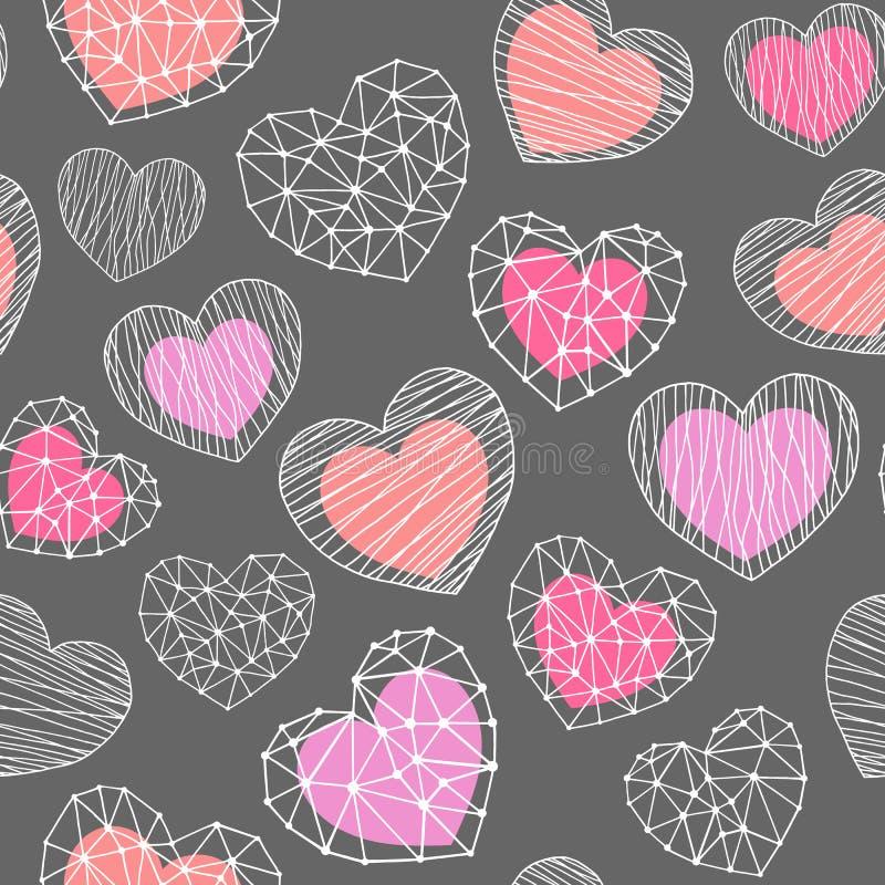 Modelo inconsútil de las formas de los corazones libre illustration
