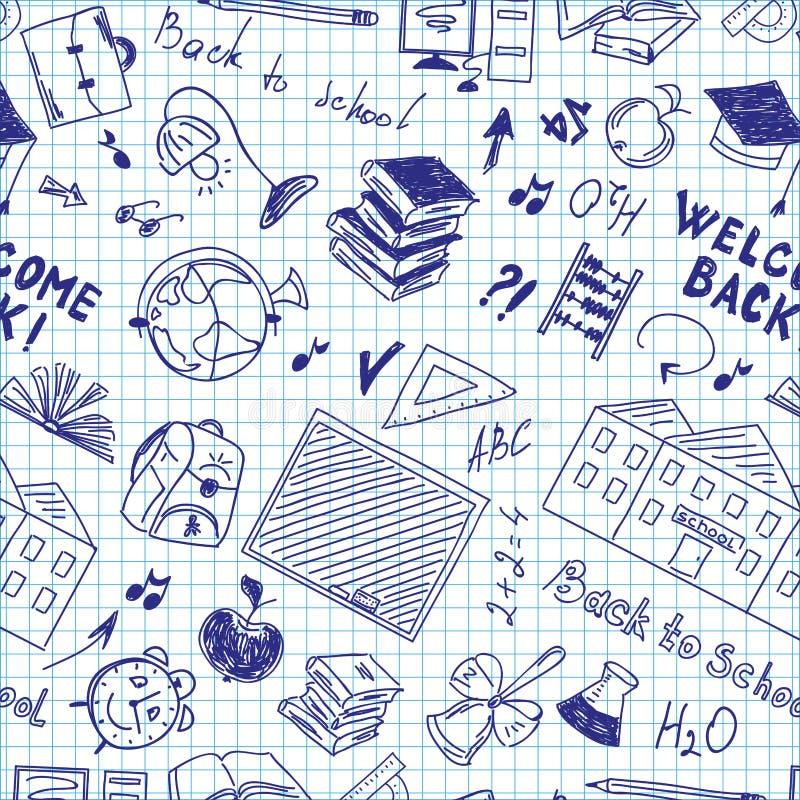 Modelo inconsútil de las fuentes de escuela en cuaderno libre illustration