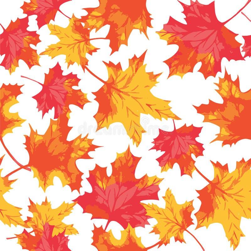 Modelo inconsútil de las hojas de arce de la acuarela Autumn Pattern libre illustration