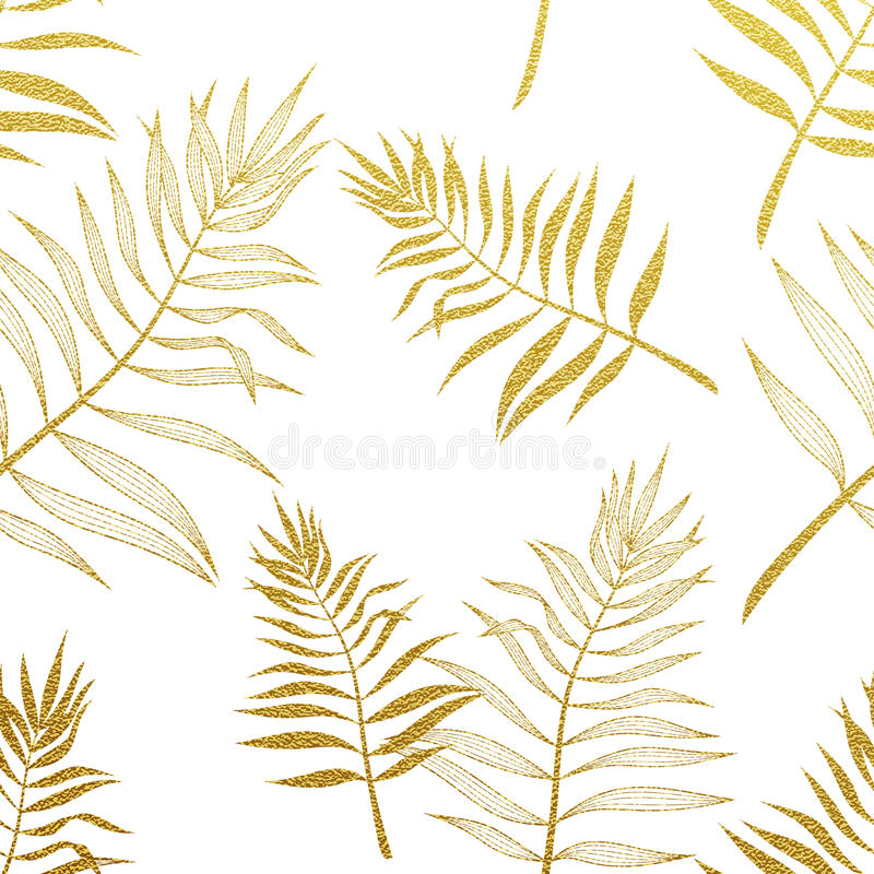 Modelo inconsútil de las hojas de palma Ejemplo botánico del vector libre illustration