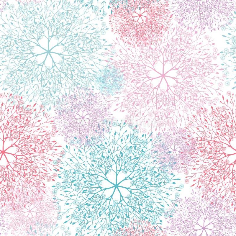 Modelo inconsútil de las ilustraciones abstractas coloridas del árbol libre illustration