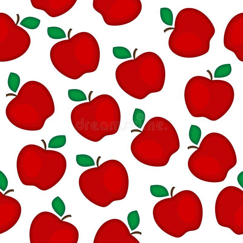 Modelo inconsútil de las manzanas rojas ilustración del vector